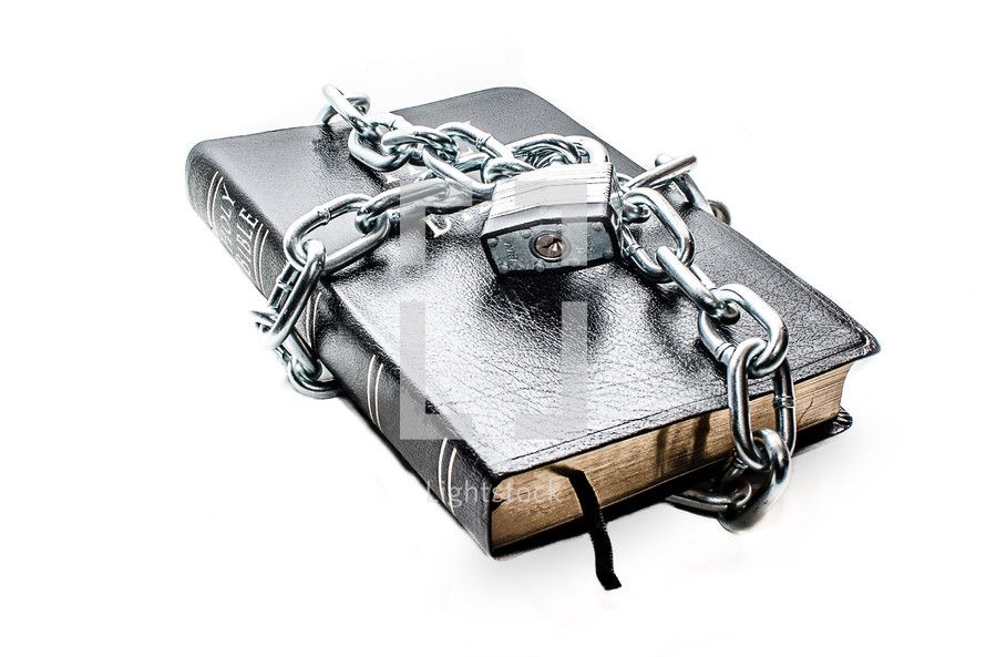 A chained and locked Bible