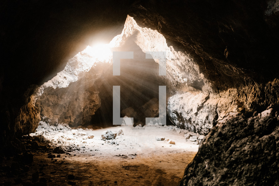 sunlight shining into the empty tomb