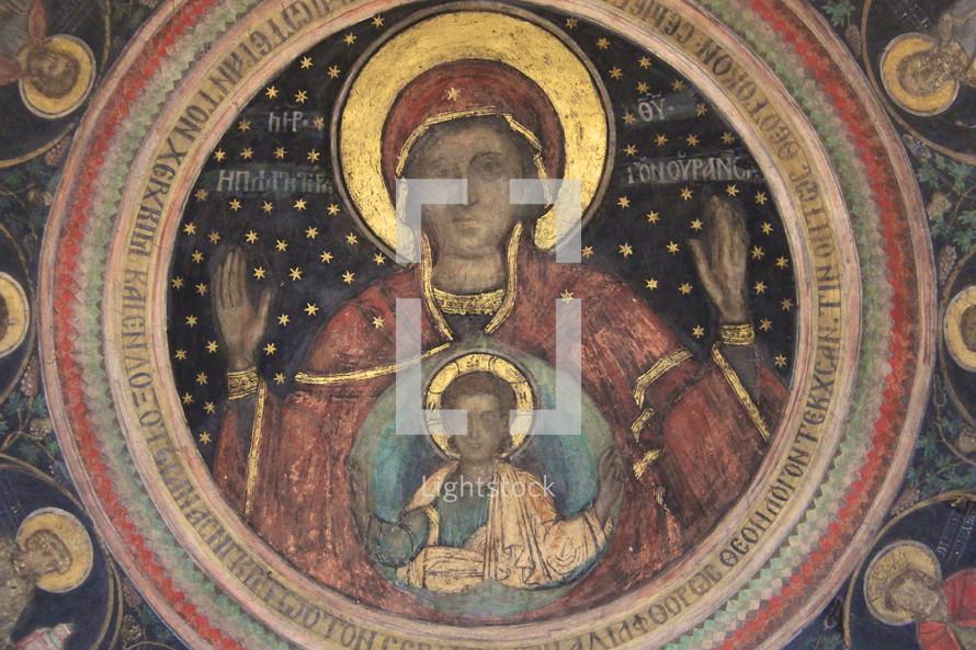 Mary, jesus, art, painting