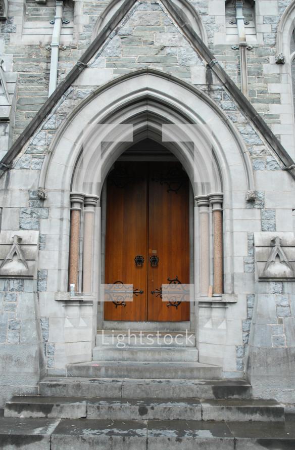 Church entrance.