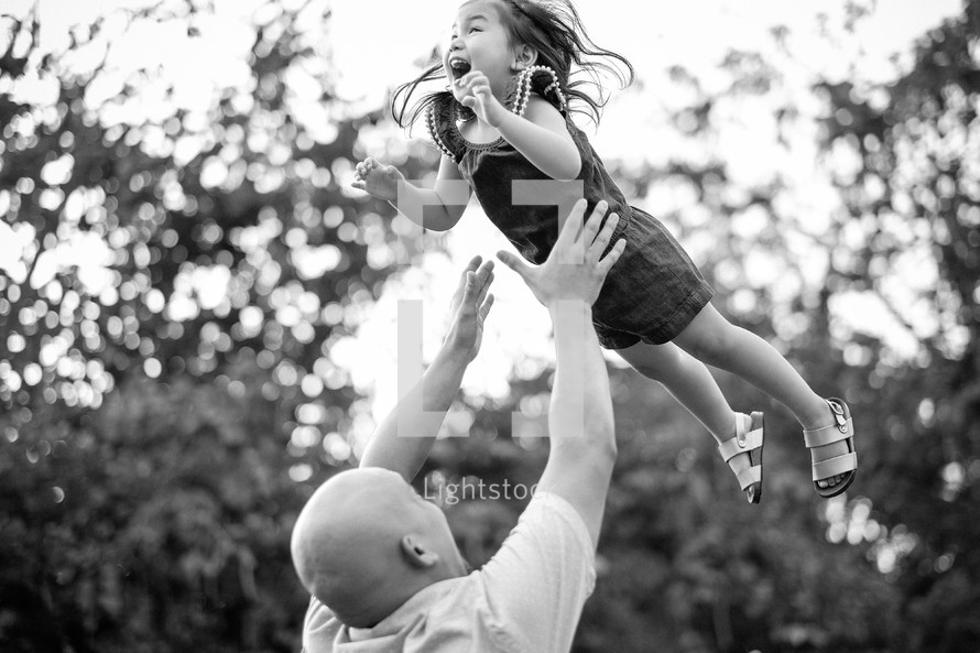 """The greatness of a father's love.  """"No matter what happens, I'll catch you."""""""
