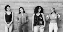 group of smiling young African American women