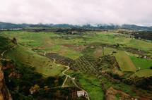 aerial view over Rhonda Spain