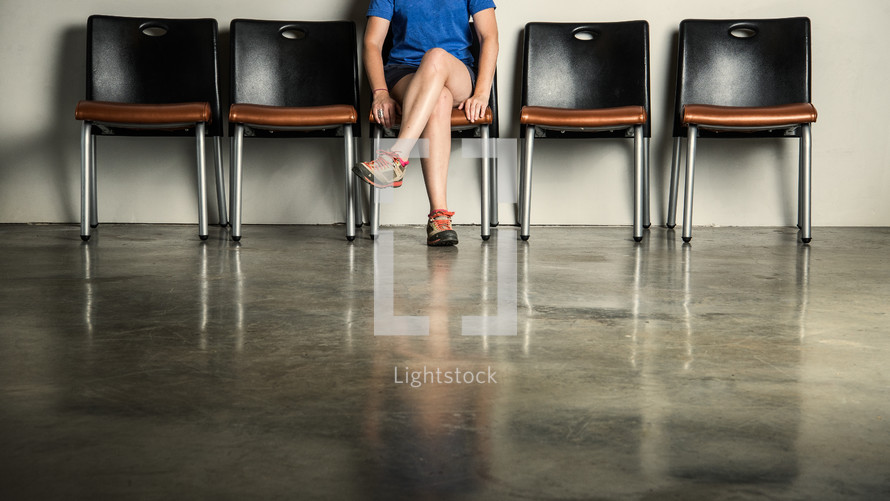 a person in a waiting room