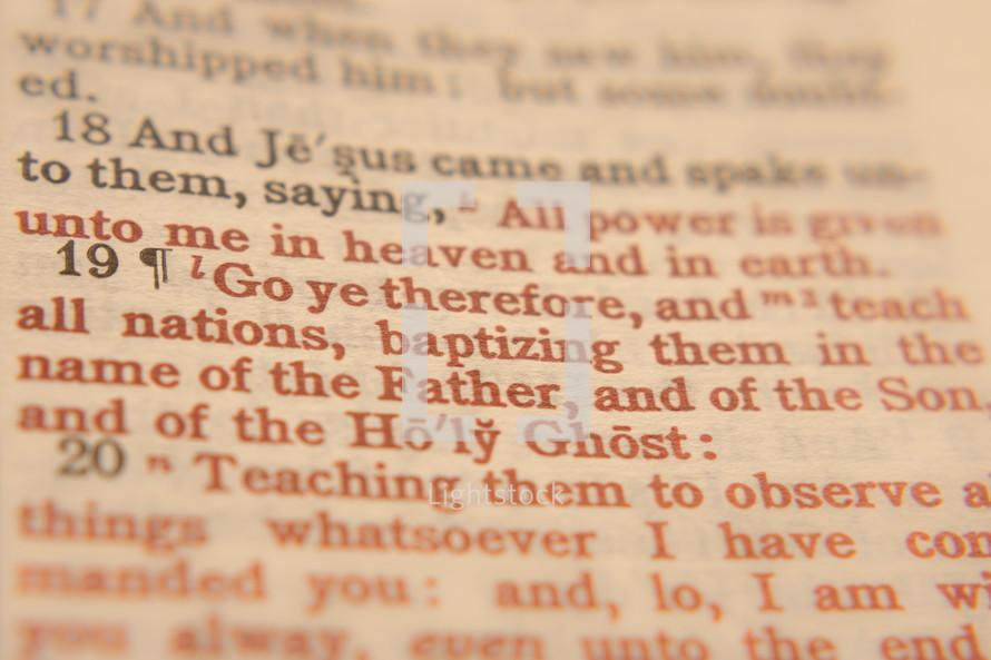 Baptismal scripture