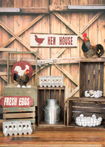 Hen House and country motif