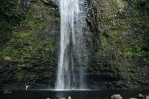 swimming hole and waterfall