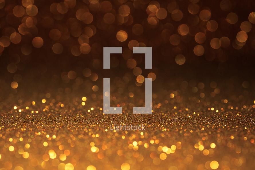 gold sparkling bokeh light