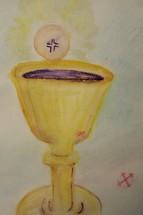 Communion, Eucharist in watercolor