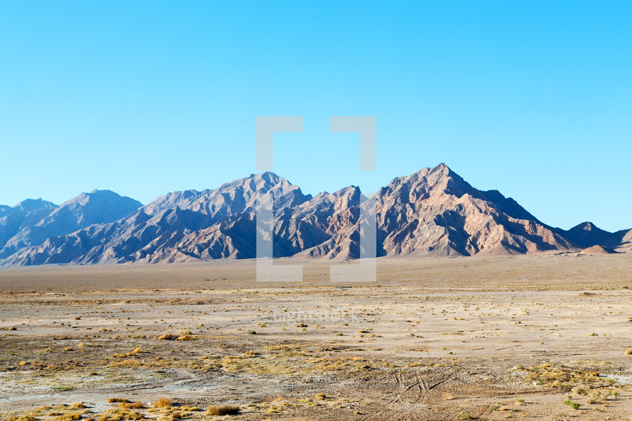 mountains and desert landscape in Iran