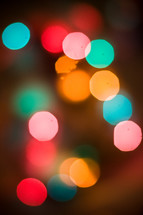 Colorful Christmas lights.