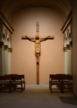 crucifix in a chapel