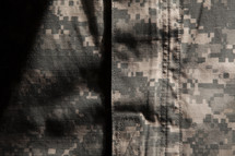 camouflage uniform closeup