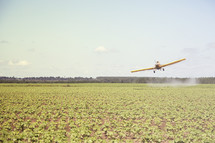aerial spraying of crops