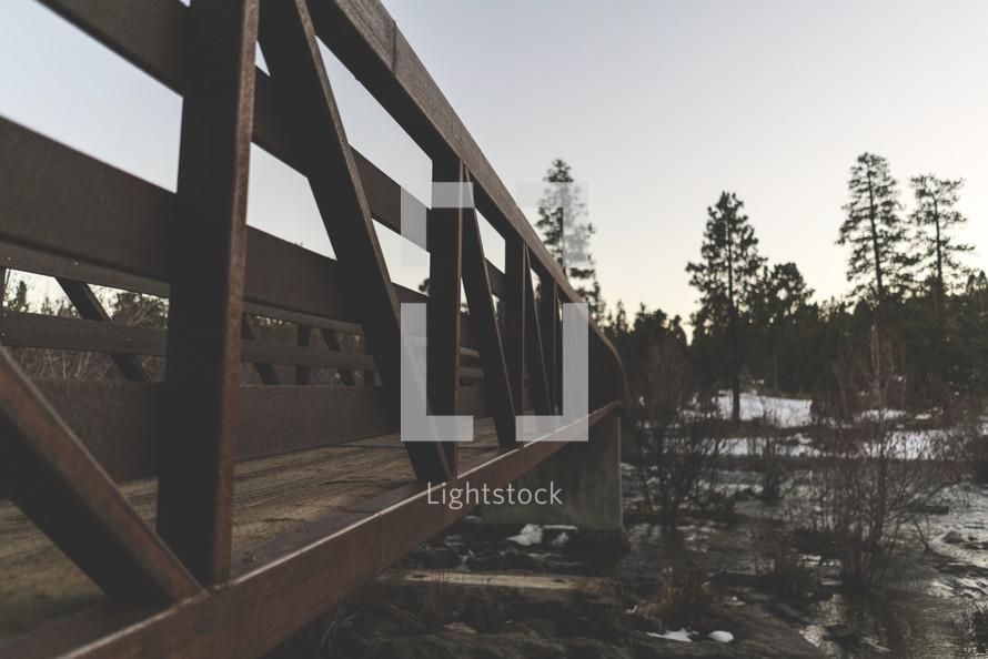footbridge over a river
