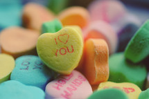 candy conversation hearts.
