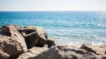rocks along a shore