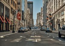 traffic on a city street