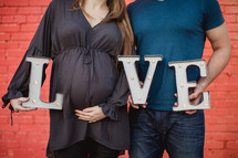 love, an expecting couple