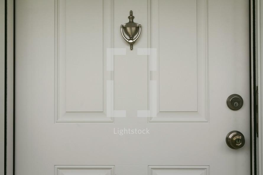door knocker and door knob