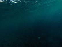 under ocean water