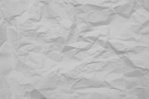 crinkled paper