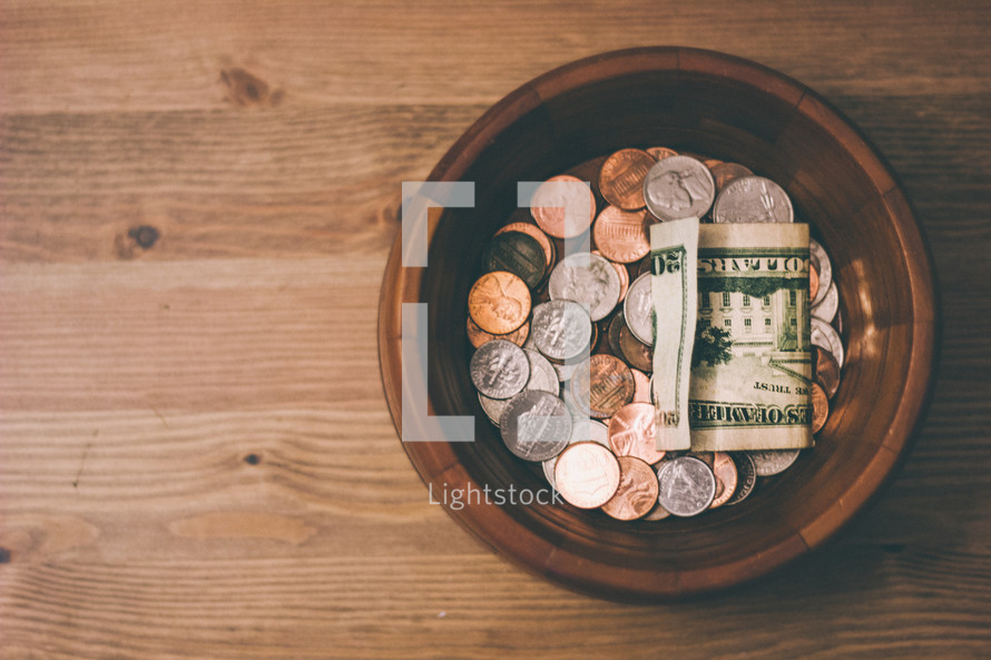 donations of cash and coins