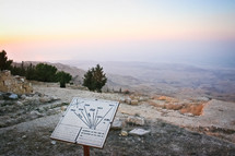 View of the Promised Land from Mt Nebo in Jordan.