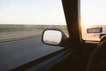 looking in the rearview mirror