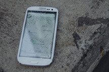 cellphone with a cracked screen