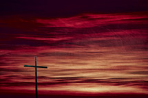 cross against a red sky