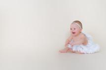 baby girl in a tutu