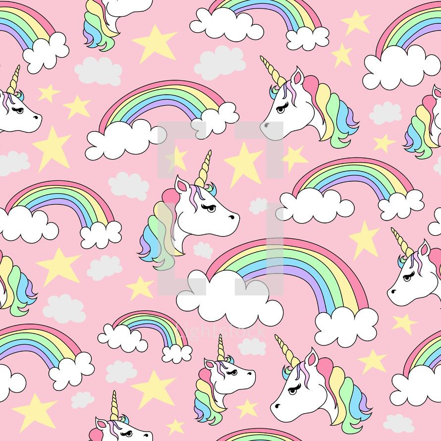 unicorn pattern background