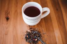 tea and a mug