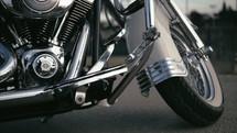 view of a Harley Motorcycle