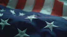 Close up of the stars on the american flag