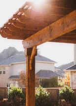 wood pergola beams