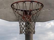 Basketball goal.