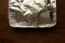 foil over a casserole dish