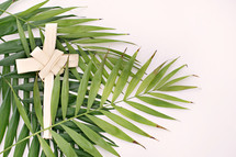 cross and palm fronds
