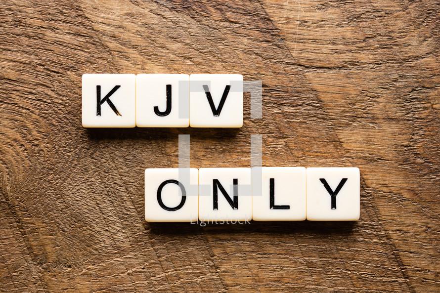 KJV only