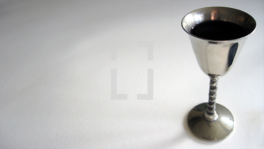 silver wine cup