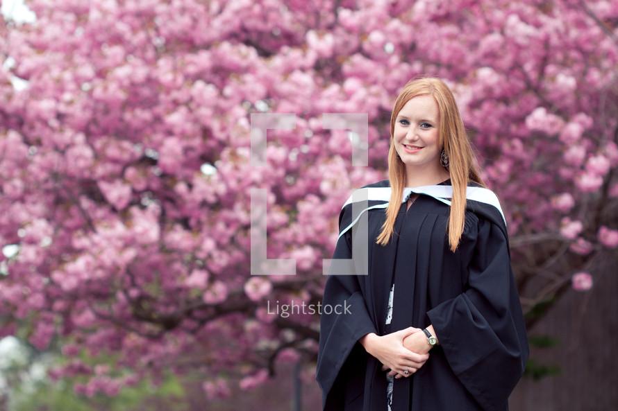 woman at college graduation