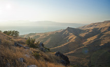 Mountains in Israel overlooking the sea of Galilee