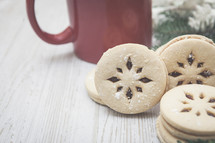Christmas Cookies with Copy Space