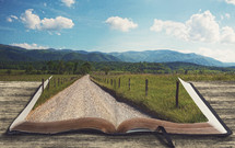 Country road leading into the Bible.