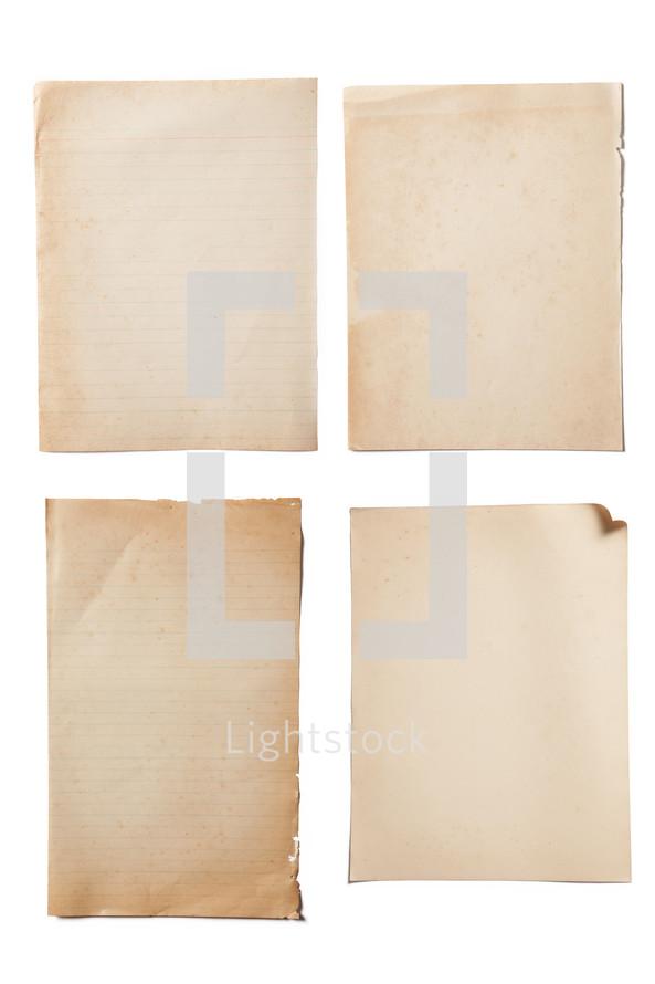 Four paper textures.
