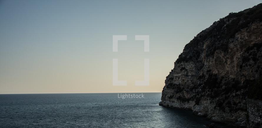 cliffs on a shore