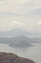 Taal volcano at Taal lake, Tagaytay city, Philippines.