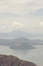 Taal volcano at Taal lake, Tagaytay city, Philippines.